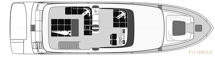 lay out beach 60 flybridge