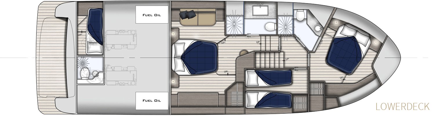 lay out lowerdeck